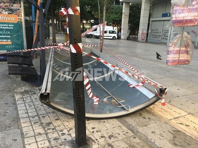 Λεωφορείο έπεσε σε στάση στη Φιλελλήνων - Μία τραυματίας