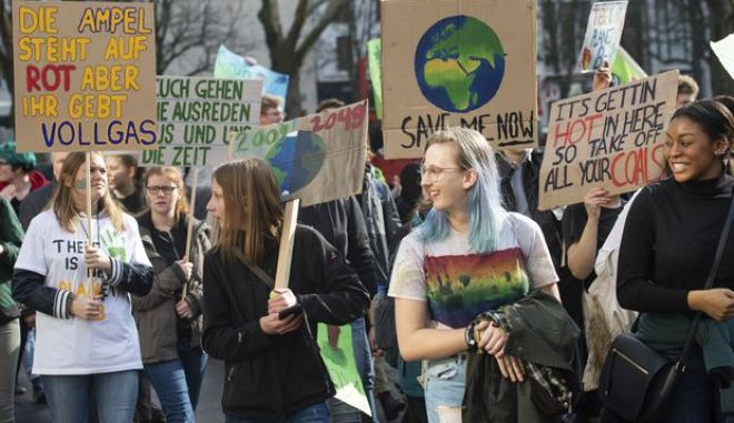 Φωτογραφία από παλαιότερη διαδήλωση στη Γερμανία