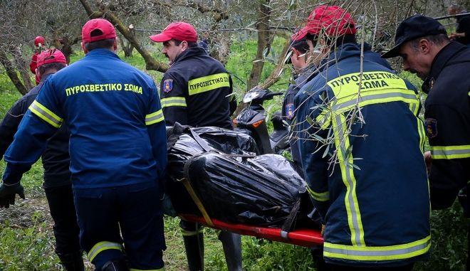 Έρευνες στον Γεροπόταμο για τον εντοπισμό των τεσσάρων ανθρώπων που αγνοούνται στη Μεσαρά, την Δευτέρα 18 Φεβρουρίου 2019. (EUROKINISSI/ΣΤΕΦΑΝΟΣ ΡΑΠΑΝΗΣ)