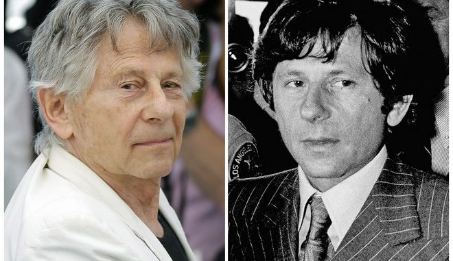 "FILE - This combination of file photos shows director Roman Polanski at the photo call for the film, ""Based On A True Story,"" at the 70th international film festival, Cannes, southern France, on May 27, 2017, left, and Polanski at a Santa Monica, Calif., courthouse on Aug. 8, 1977. Los Angeles police are investigating allegations that Polanski molested a 10-year-old girl in 1975. Although the allegations are so old criminal charges cannot be brought, detectives may be able to use evidence they collect to aid in the prosecution of other cases. The 84-year-old has been a fugitive since he fled to France in 1978 on the eve of sentencing in an unrelated case for sexually assaulting a 13-year-old girl. (AP Photo/Files)"