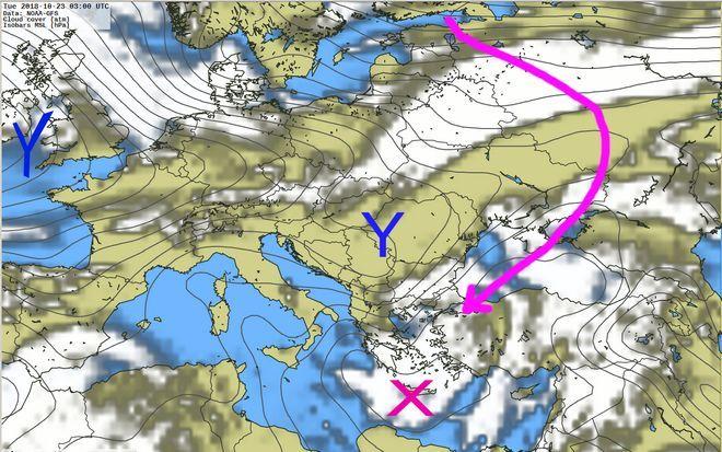 Καιρός: Έρχονται βροχές, καταιγίδες και χιόνια στα ορεινά