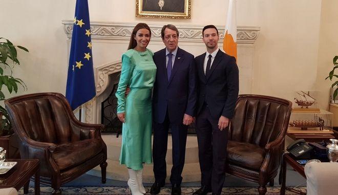 """""""Fuego"""" και στο προεδρικό μέγαρο: Ο Ν. Αναστασιάδης υποδέχθηκε την Φουρέιρα"""
