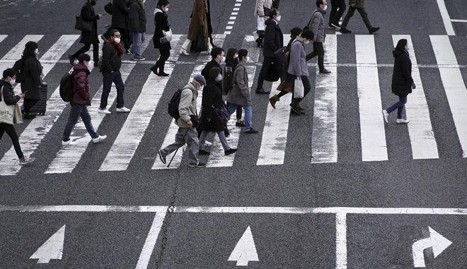 Εικόνα από το Τόκιο τον Ιανουάριο του 2021