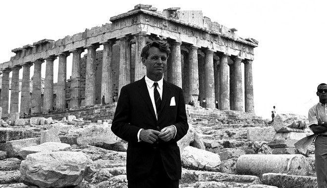 Ο Ρόμπερτ Κένεντι στην Ακρόπολη το 1966