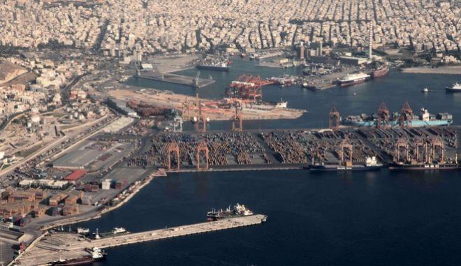 Αεροφωτογραφία αρχείου του λιμανιού.