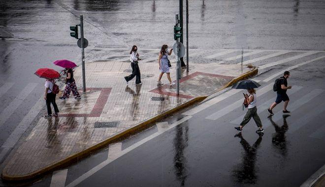 Βροχή.