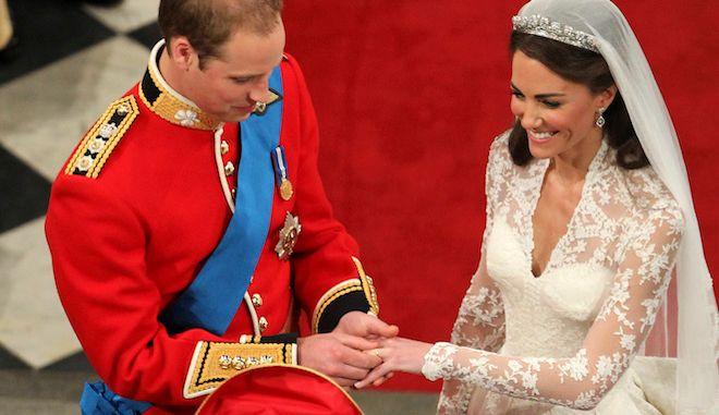Ο πρίγκιπας Ουίλιαμ στον γάμο του με την Κέιτ Μίντλετον, 29 Απριλίου 2011