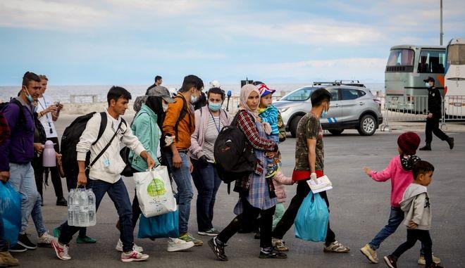 Πρόσφυγες και μετανάστες. Φωτό αρχείου.