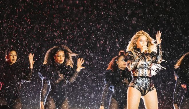 IMAGE DISTRIBUTED FOR PARKWOOD ENTERTAINMENT - Beyonce performs during the Formation World Tour at Lincoln Financial Field on Thursday, September 29, 2016, in Philadelphia, Pennsylvania. (Photo by 13thWitness/Invision for Parkwood Entertainment/AP Images)