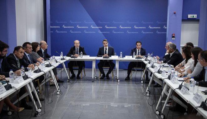 Συνεδρίαση των Τομεαρχών της ΝΔ υπό τον πρόεδρο κ. Κυριάκο Μητσοτάκη στα κεντρικά γραφεία του κόμματος. Τρίτη, 29 Αυγούστου 2017 (EUROKINISSI / ΓΙΑΝΝΗΣ ΠΑΝΑΓΟΠΟΥΛΟΣ)