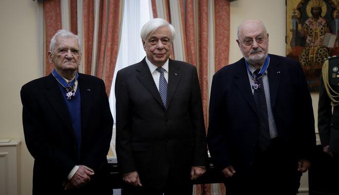 Απονομή Παράσημου του Ταξιάρχη του Τάγματος της Τιμής στους Κωνσταντίνο Γεωργουσόπουλο και Βαπτιστή-Τίτο Πατρίκιο.