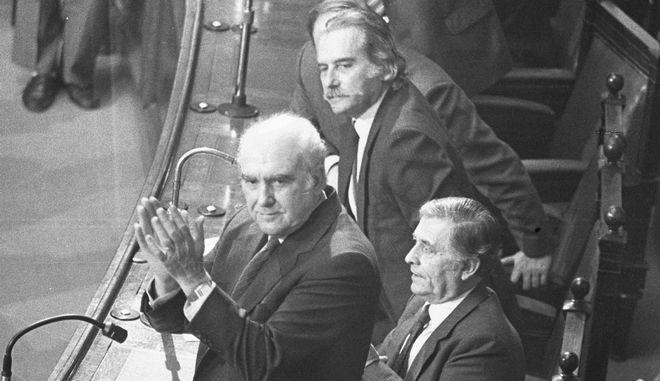 Ο Ανδρέας Παπανδρέου στη Βουλή το 1985