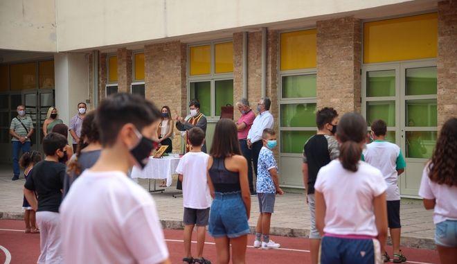 Αγιασμός σε δημοτικό σχολείο της Θεσσαλονίκης