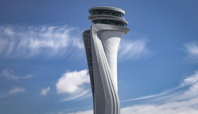 O Πύργος Ελέγχου του Νέου Αεροδρομίου Κωνσταντινούπολης