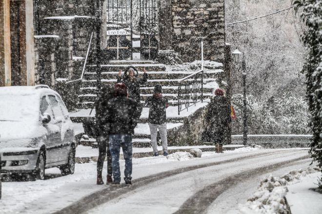 Χιονόπτωση στην Ανδρίτσαινα.