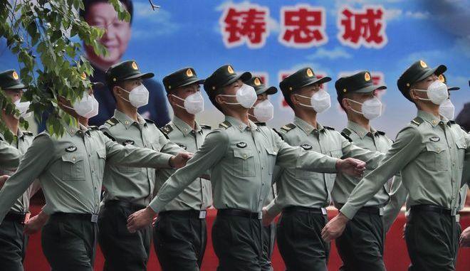 Μέλη του στρατού της Κίνας