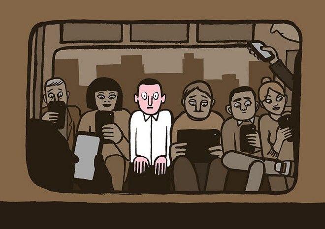 Εικόνες: Πώς ο εθισμός στην τεχνολογία καταστρέφει τη ζωή μας