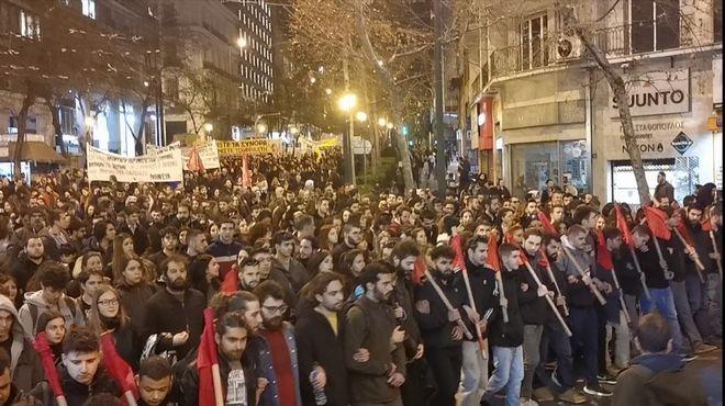 Πορεία αλληλεγγύης για πρόσφυγες και μετανάστες στην Αθήνα