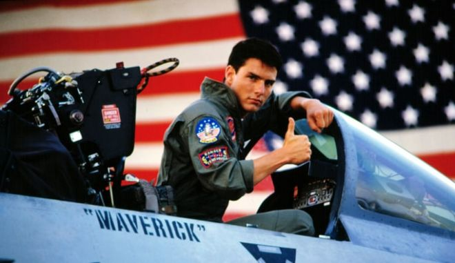 Στιγμιότυπο από την ταινία Top Gun, πίσω στο 1986, με πρωταγωνιστή τον Τομ Κρουζ