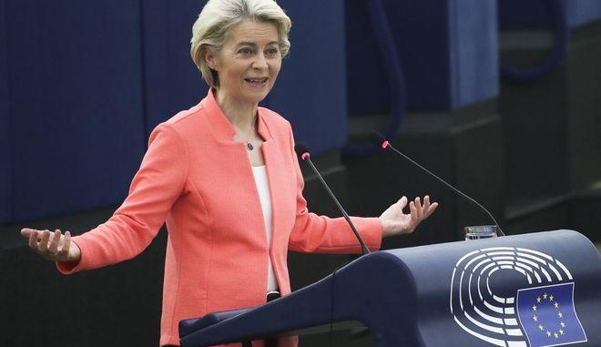 """Ευρωκοινοβούλιο: Κορύφωση της Ολομέλειας στην """"ώρα της κρίσης"""" - Όσα είπε η Ούρσουλα φον ντερ Λάιεν"""