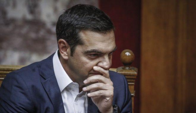 Ο πρωθυπουργός, Αλέξης Τσίπρας, στη Βουλή - Φωτογραφία αρχείου