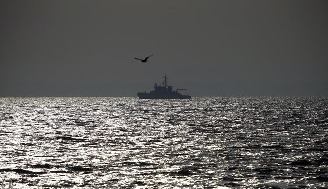 Merikarhu, a Finnish Border Guard vessel part of EU's Frontex forces deployment, patrols on the Aegean Sea, between the eastern Greek Island of Agathonisi and the nearby Turkish shores, Monday, Feb. 29, 2016. Greece is mired in a full-blown diplomatic dispute with some EU countries over their border slowdowns and closures. Those border moves have left Greece and the migrants caught between an increasingly fractious Europe, where several countries are reluctant to accept more asylum-seekers, and Turkey, which has appeared unwilling or unable to staunch the torrent of people leaving in barely seaworthy smuggling boats for Greek islands. (AP Photo/Lefteris Pitarakis)