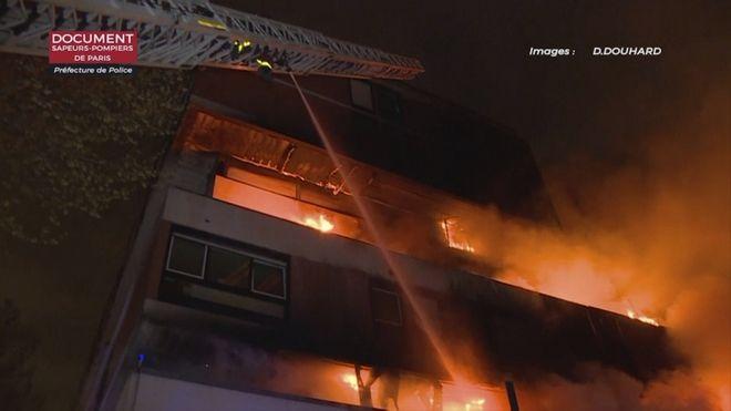 Το φλεγόμενο κτίριο στο Παρίσι