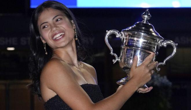 Η νικήτρια του 'US Open', Έμα Ραντουκάνου.