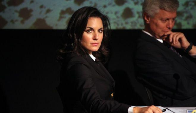 """Η υπουργός Τουρισμού Όλγα Κεφαλογιάννη στην εκδήλωση """"Οι Καινοτόμοι   Μια εναλλακτική προσέγγιση στον ΤΟΥΡΙΣΜΟ"""" που πραγματοποιήθηκε την Τετάρτη 20 Νοεμβρίου 2013, στο Ίδρυμα """"Μιχ. Κακογιάννη"""". Η εκδήλωση εντάσσσεται στο πλαίσιο της 6ης Παγκόσμιας Εβδομάδας Επιχειρηματικότητας, και διοργανώθηκε από την Νέα Δημοκρατία όπως και μια σειρά εκδηλώσεων, στη Θεσσαλονίκη και στην Αθήνα, με τον τίτλο «Οι Καινοτόμοι. Μια εναλλακτική προσέγγιση στην επιχειρηματικότητα» και κύρια θεματολογία την αγροτική παραγωγή, τη γυναικεία επιχειρηματικότητα, τον Τουρισμό και τις Start ups επιχειρήσεις (EUROKINISSI/ΑΛΕΞΑΝΔΡΟΣ ΖΩΝΤΑΝΟΣ)"""