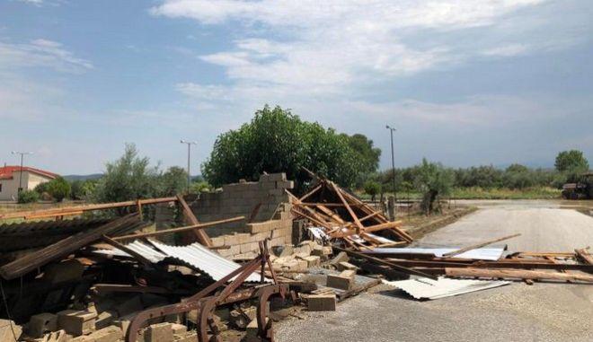 Σοβαρές καταστροφές στο Ρίζωμα Τρικάλων