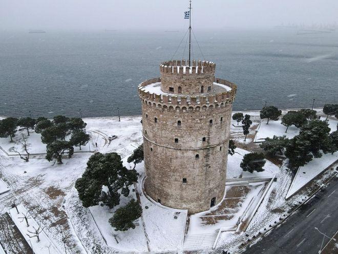 Ο χιονισμένος Λευκός Πύργος