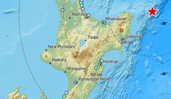 Ο χάρτης του σεισμού