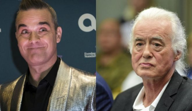 Robbie Williams και Jimmy Page