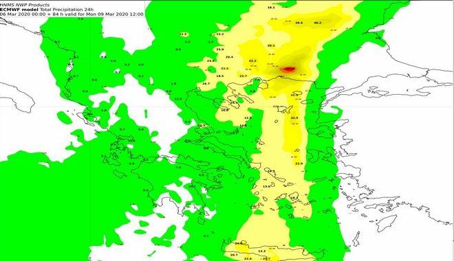 Καιρός: Έκτακτο δελτίο με ισχυρές βροχές και καταιγίδες