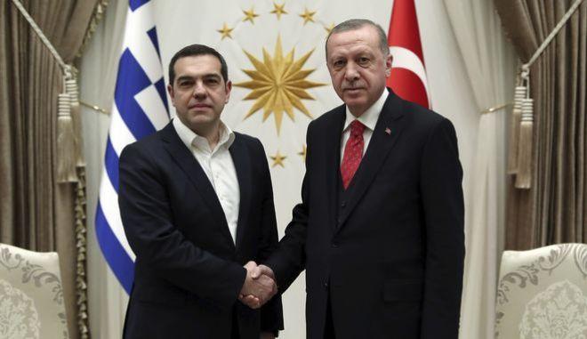 Ο πρωθυπουργός Α.Τσίπρας με τον Ρετζέπ Ταγίπ Ερντογάν