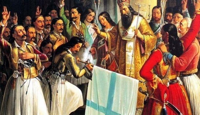 ΝΑΥΠΛΙΟ - ΠΙΝΑΚΑΣ ΖΩΓΡΑΦΙΚΗΣ ΤΟΥ ΘΕΟΔΩΡΟΥ ΒΡΥΖΑΚΗ ΜΕ ΘΕΜΑ ΤΗΝ ΕΝΑΡΞΗ ΤΗΣ ΕΠΑΝΑΣΤΑΣΗΣ ΤΟΥ 1821