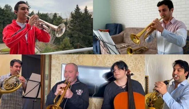 Κορονοϊός: Η εθνική συμφωνική ορχήστρα του Αζερμπαϊτζάν σε μια διαφορετική συναυλία
