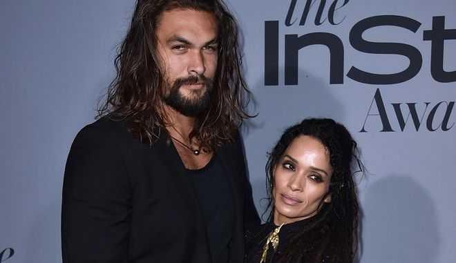 Jason Momoa and Lisa Bonet arrive at the inaugural InStyle Awards at The Getty Center on Monday, Oct. 26, 2015, in Los Angeles. (Photo by Jordan Strauss/Invision/AP)