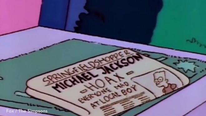 Η εφημερίδα στο επεισόδιο των Simpsons, το 1991, που αναφέρεται στο