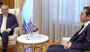 """Γιούνκερ: """"Αλλάξατε διακόσμηση στο Μαξίμου;"""". Τσίπρας: """"Αλλάξαμε τη χώρα"""""""