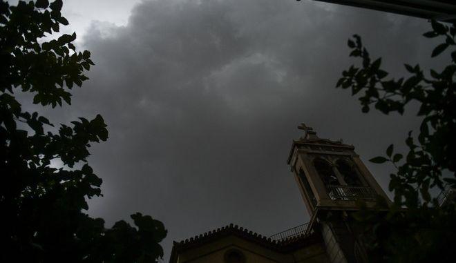 Καταιγίδα στην Αθήνα (Φωτογραφία αρχείου)