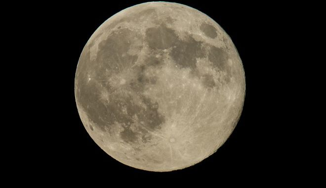 A perigree full moon or supermoon is seen, Sunday, August 10, 2014, in Washington. A supermoon occurs when the moons orbit is closest (perigee) to Earth at the same time it is full. Photo Credit: (NASA/Bill Ingalls)