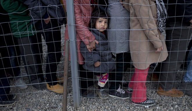 Mετανάστες σε camp
