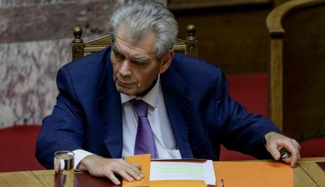 Ο Δημήτρης Παπαγγελόπουλος, πρώην Υπουργός Δικαιοσύνης