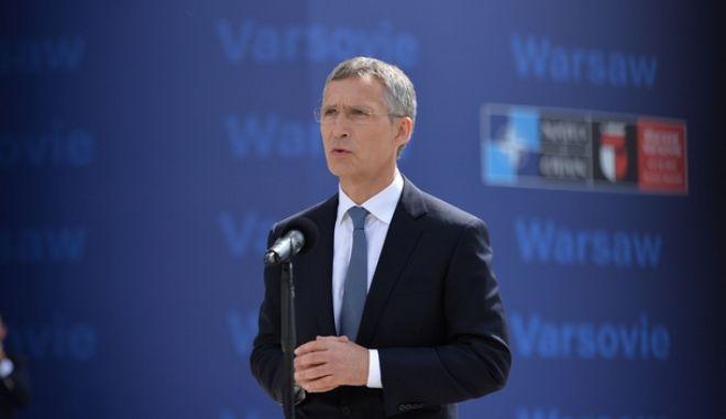 Doorstep statement by NATO Secretary General Jens Stoltenberg at the start of the NATO Summit in Warsaw. (EUROKINISSI/ÍÁÔÏ)