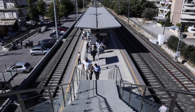 The Minister of Infrastracture,Transport and Networks Michalis Chrisochoidis attended at the opening of the new suburban railway station `Tavros`, at Tavros, on October 1st 2014 /   ,     ,        ``,  , 1  2014