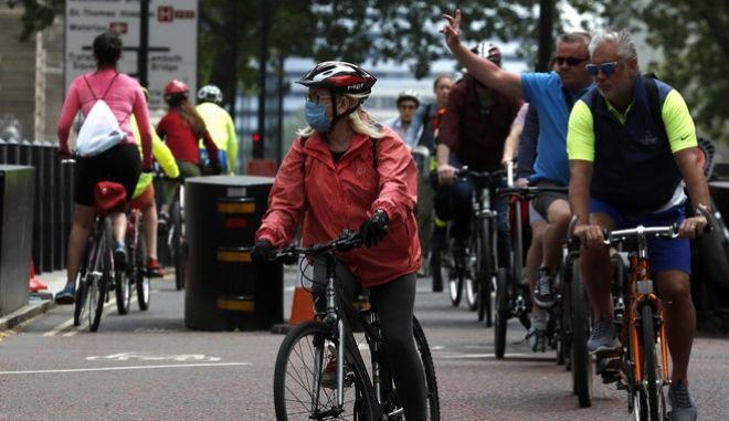 Ποδηλάτες στο Λονδίνο
