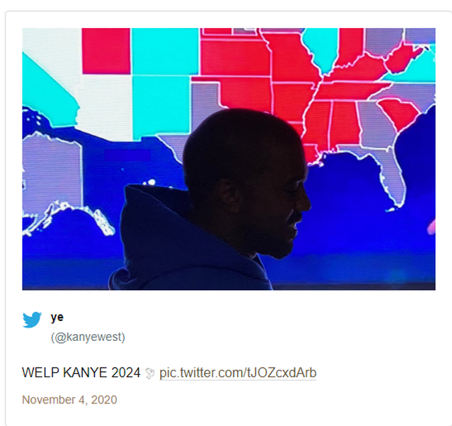 Αμερικανικές εκλογές: Ο Κάνιε Γουέστ έχασε, αλλά ετοιμάζεται για το 2024