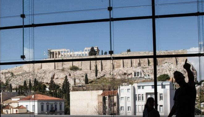 Snapshots from Acropolis Museum in Athens, Greece on February 28, 2016.