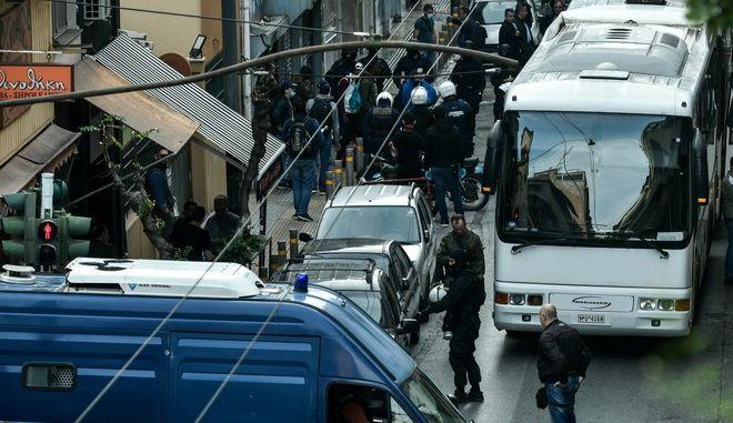 Επιχείρηση  της Ελληνικής Αστυνομίας στα Εξάρχεια τον Νοέμβριο του 2019